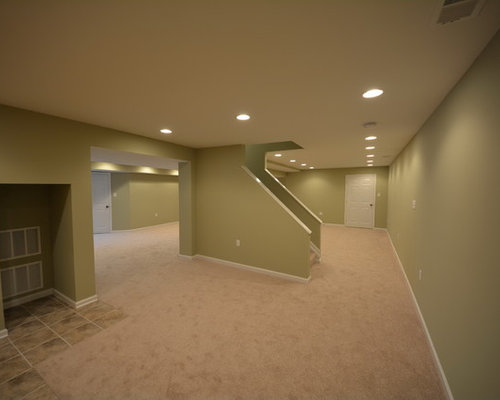 basement lighting. Example Of A Classic Basement Design In Other Lighting