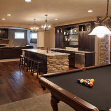 Traditional Basement by CBWS New Homes & Land