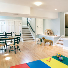 Traditional Basement by Byggmeister Inc