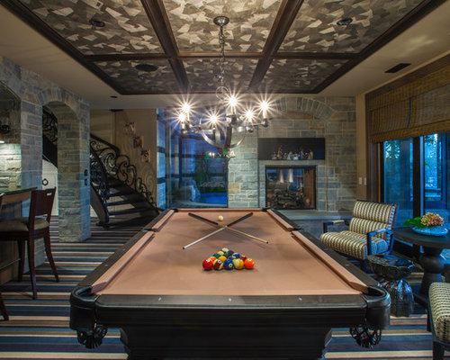souterrains mit tunnelkamin ideen design bilder houzz. Black Bedroom Furniture Sets. Home Design Ideas