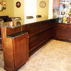 Traditional Basement by Green Basements & Remodeling