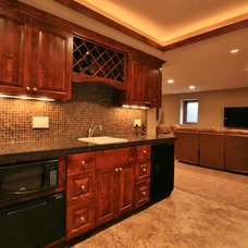 Traditional Basement by J Brothers Home Improvement Inc