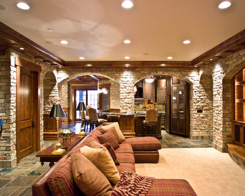 French country basement design ideas pictures remodel for Country basement ideas