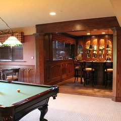 traditional basement by Meadowbank Designs