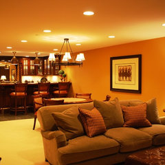 traditional basement by Nicole von Meier Design