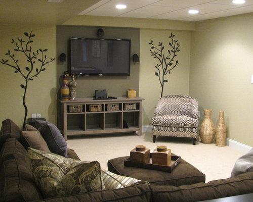 Best cozy basement design ideas remodel pictures houzz - Basement rec room ideas ...