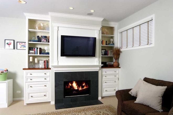 Traditional Basement by Lisa Wolfe Design, Ltd