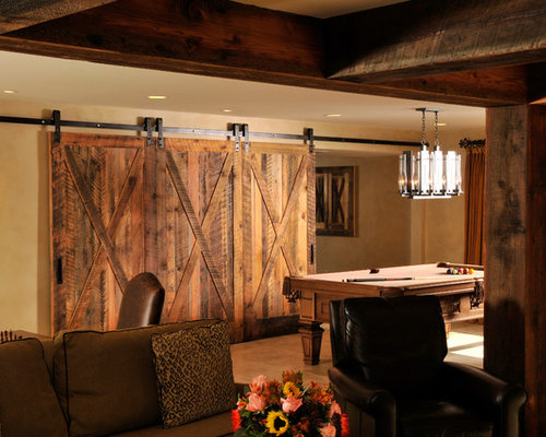 Rustic Basement Home Design Ideas Pictures Remodel And Decor
