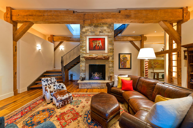 Traditional Basement by HeritageBarns.com