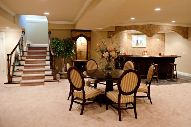 Contemporary Basement by Scott Lewis Homes