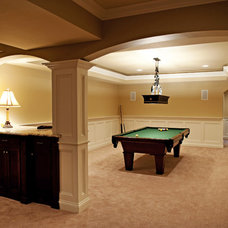 Traditional Basement by Scott Lewis Homes