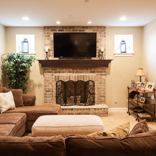 Traditional Basement by Hyland Homes