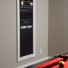 Traditional Basement by Dell Smart Home Solutions