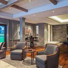 Contemporary Basement by Makow Associates Architect Inc