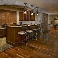 Transitional Basement by BKC Kitchen and Bath