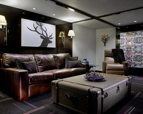 Photos et idées déco de sous-sols contemporains plafond blanc ...