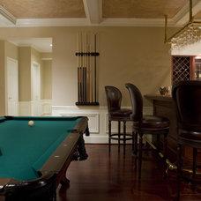 Traditional Basement by LORNA GROSS Interior Design