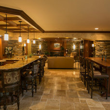 Traditional Basement by Artichoke Interiors