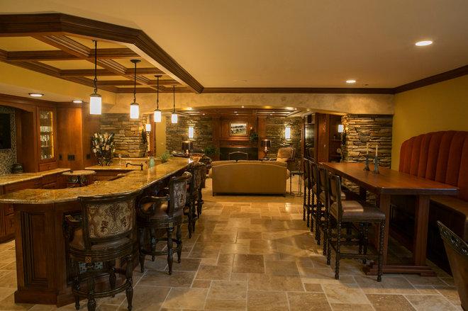 Traditional Basement by Artichoke Interiors