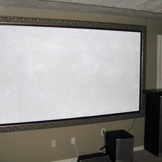 Traditional Basement by Smart Touch Design - Flat Screen TV Frames