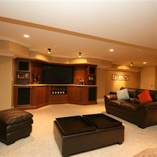 Traditional Home Theater by Darren Walker - Kitchen Craft