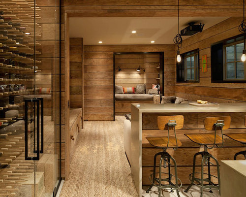 Country basement design ideas renovations photos with for Country basement ideas
