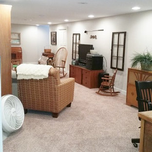 75 most popular shabby chic style basement design ideas for 2019cottage chic basement photo in other