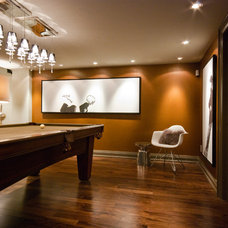 Contemporary Basement by Valdem Built Inc.