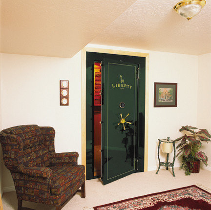 Walk in gun safe houzz for Safe room builders