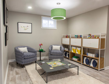 Vibrant Colorful Basement + Children's Play Area + Master Suite