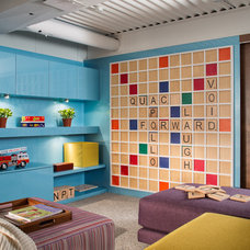Modern Basement by coG-studio