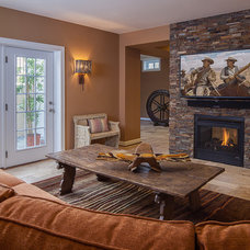Eclectic Basement by Details Interiors, LLC