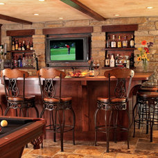 Traditional Basement by Bartelt. The Remodeling Resource