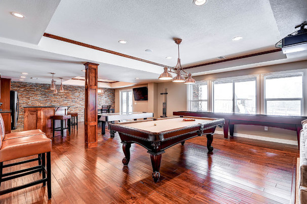 Traditional Basement by AK Interior Design