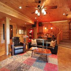 Rustic Basement by VPC Builders, LLC