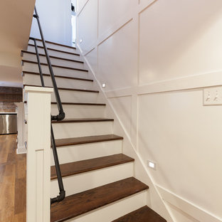 Wainscoting and Staircase Built-Ins in Hinsdale, Illinois