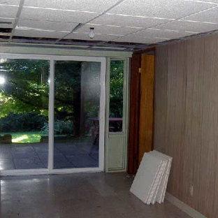 Trendy basement photo in Columbus