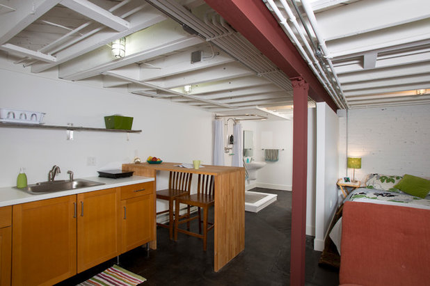 Industrial Basement by Four Brothers LLC