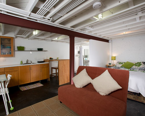 contemporary black flooring basement design ideas renovations