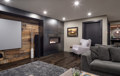 Room of the Day: A Media Room With Mystery and Moody Details