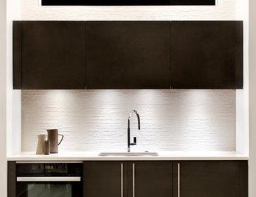 WAY Artic White Soft Melamine & Fossil Oak Matrix Kitchen in Arlington