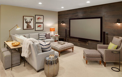 Room of the Day: Cabin-Inspired Basement Makes a Stylish Retreat