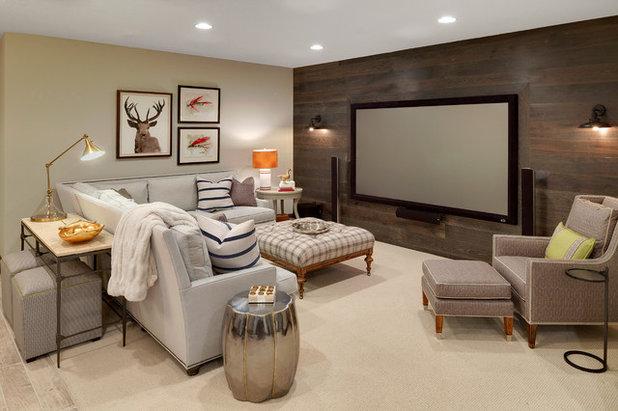 Rustic Basement by Grace Hill Design