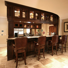Traditional Basement by Walker Woodworking