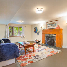 Beach Style Basement by Cassie Daughtrey Realogics Sotheby's Realty