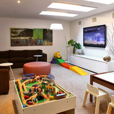 Modern Basement by moment design + productions, llc