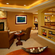 Traditional Basement by Blue Sky Remodeling