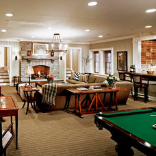 Traditional Basement by Charles Hilton Architects