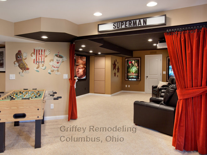 Traditional Basement by Griffey Remodeling
