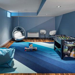 Inspiration pour un sous-sol design.